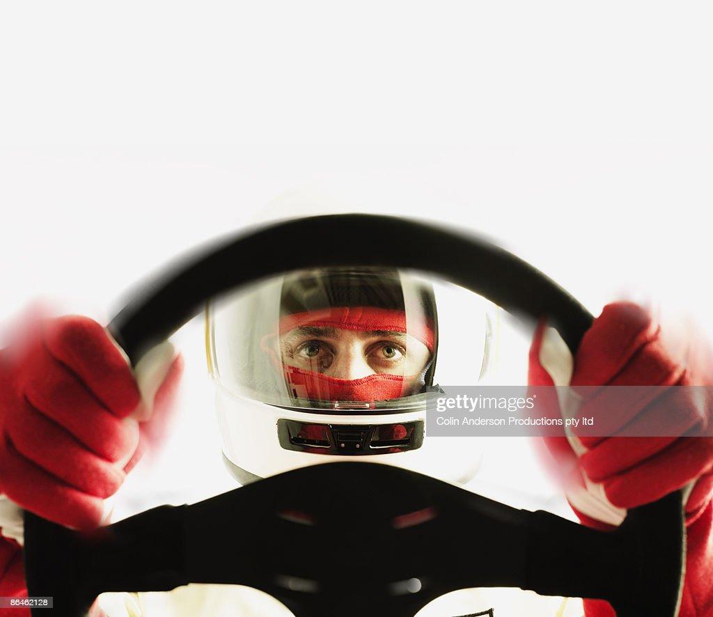 Race car driver : Stock Photo