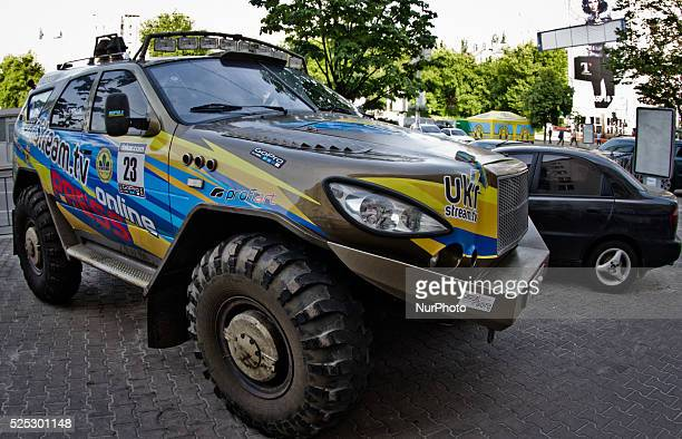 Race car for Sonangol Africa EcoRace 2014/15 has become presented today in Kiev The team will participate a rallyraid on the unique offroad car...