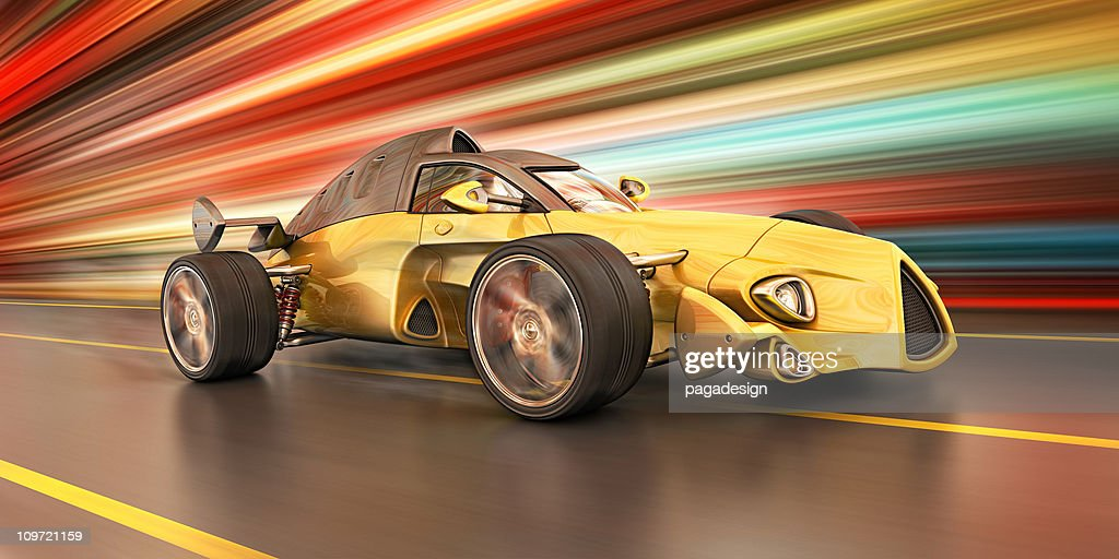 race car in the city : Stock Illustration