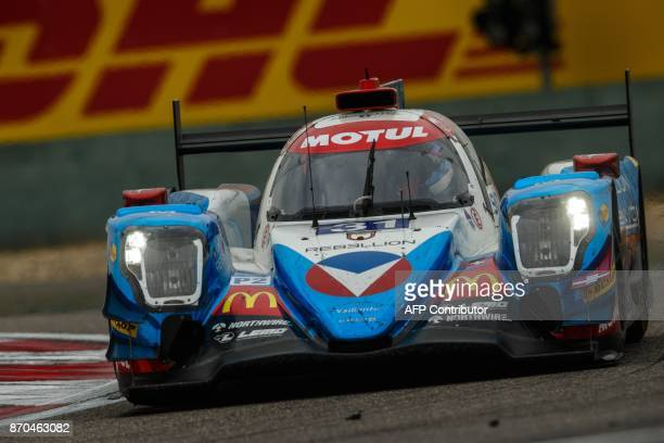 A race car of the Vaillante Rebellion team Oreca 07Gibson Number 31 winner of LMP2 category takes part in the FIA World Endurance Championship race...