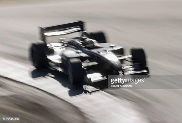 Race car on curve
