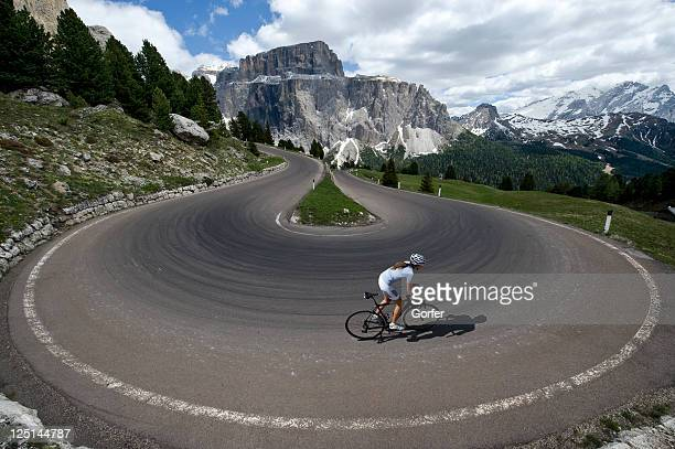 Race cycling in the Dolomites