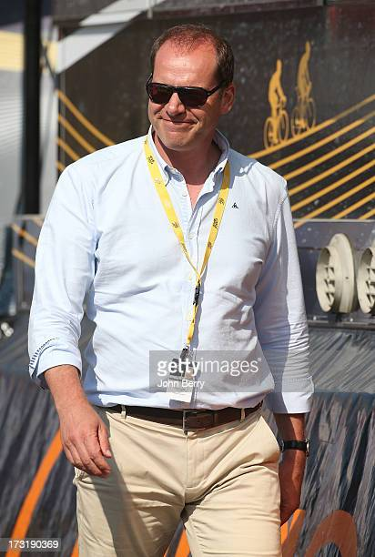 Race director Christian Prudhomme during Stage Ten of the Tour de France 2013 the 100th Tour de France a 197 km road stage from SaintGildasdesBois to...