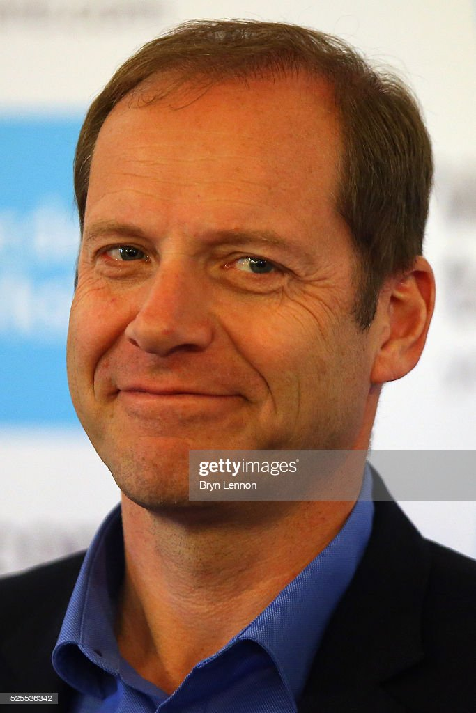 Race Director <a gi-track='captionPersonalityLinkClicked' href=/galleries/search?phrase=Christian+Prudhomme&family=editorial&specificpeople=546988 ng-click='$event.stopPropagation()'>Christian Prudhomme</a> talks to the media during a press conference prior to the start of the Tour de Yorkshire 2016 at York Air Museum on April 28, 2016 in York, England.