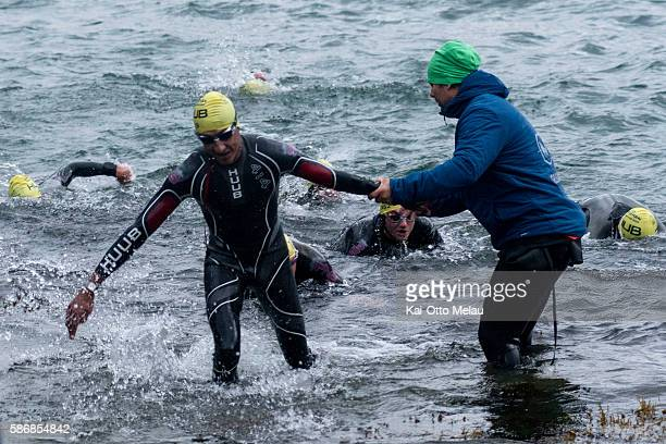 Race Director Tommy Storoygard sets his pride in greeting every single athlete coming out of the water on August 6 2016 in Eidfjord Norway The race...