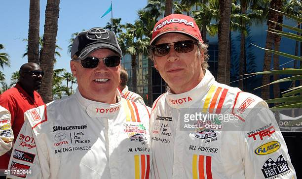Race driver Al Unser Jr and actor William Fichtner at the 42nd Toyota Pro/Celebrity Race Race Day to Benefit 'Racing For Kids' held on April 15 2016...