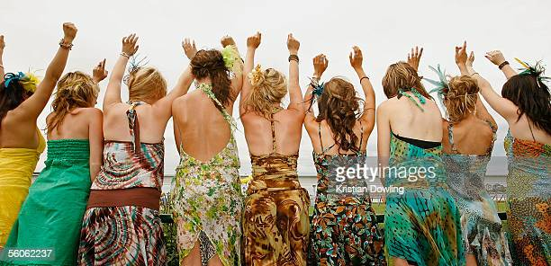 Race fans enjoy the festivities during The Crown Oaks Day at Flemington Racecourse November 3 2005 in Melbourne Australia