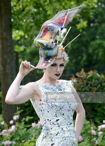 A race goer attends day three of Royal Ascot at Ascot Racecourse on June 19 2014 in Ascot England