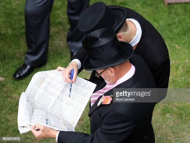 Race goers attend day five of Royal Ascot 2017 at Ascot Racecourse on June 24 2017 in Ascot England