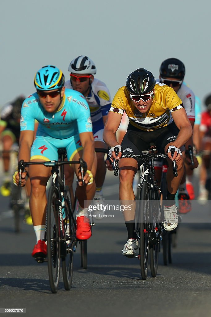 Race leader <a gi-track='captionPersonalityLinkClicked' href=/galleries/search?phrase=Edvald+Boasson+Hagen&family=editorial&specificpeople=4451245 ng-click='$event.stopPropagation()'>Edvald Boasson Hagen</a> pushes for the finish line on stage four of the 2016 Tour of Qatar, a 189km road stage from Al Zuberah Fort to Madinat Al Shama, on February 11, 2016 in Madinat Al Shamal, Qatar.
