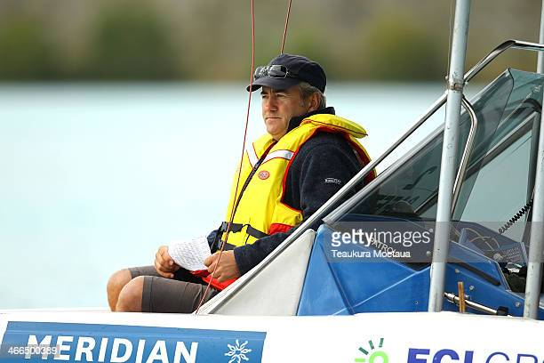 A race official looks on during the South Island Club Championships at Lake Ruataniwha on February 2 2014 in Twizel New Zealand