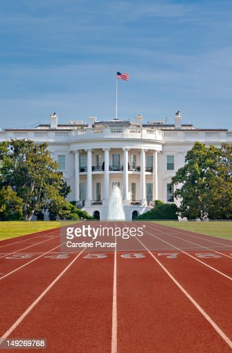 Race Track In Front Of The White House Stock Photo Getty