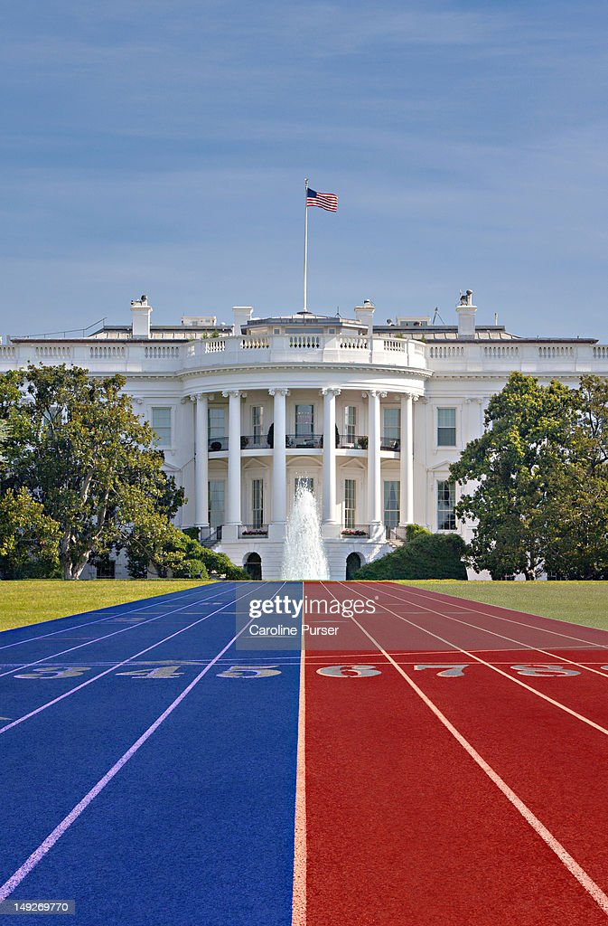 Race track in front of the White House : Stock Photo