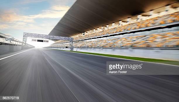 Race track start line