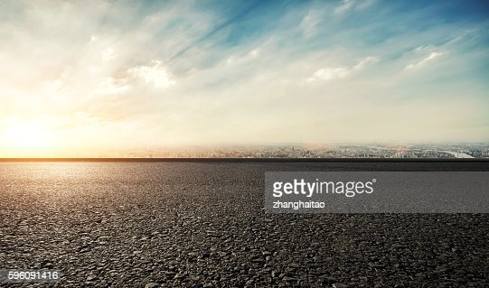 Race Track Sunset : Stock Photo