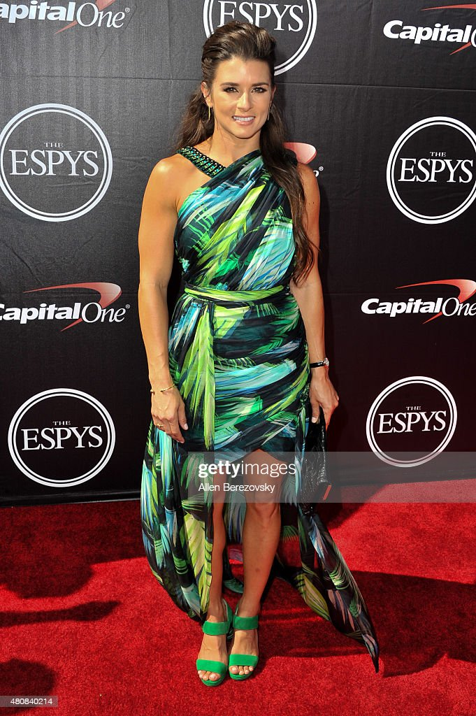Racecar driver <a gi-track='captionPersonalityLinkClicked' href=/galleries/search?phrase=Danica+Patrick&family=editorial&specificpeople=183352 ng-click='$event.stopPropagation()'>Danica Patrick</a> arrives at the 2015 ESPYS at Microsoft Theater on July 15, 2015 in Los Angeles, California.