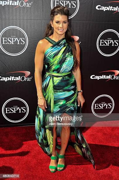 Racecar driver Danica Patrick arrives at the 2015 ESPYS at Microsoft Theater on July 15 2015 in Los Angeles California