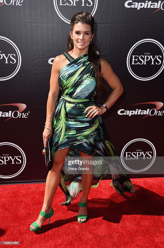 Racecar driver <a gi-track='captionPersonalityLinkClicked' href=/galleries/search?phrase=Danica+Patrick&family=editorial&specificpeople=183352 ng-click='$event.stopPropagation()'>Danica Patrick</a> attends The 2015 ESPYS at Microsoft Theater on July 15, 2015 in Los Angeles, California.