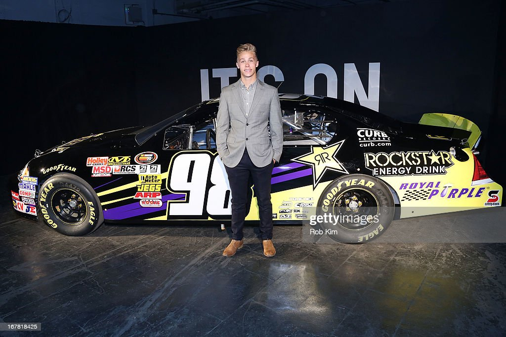 Racecar driver Dylan Kwasniewski attends the AOL 2013 Digital Content NewFront on April 30, 2013 in New York City.