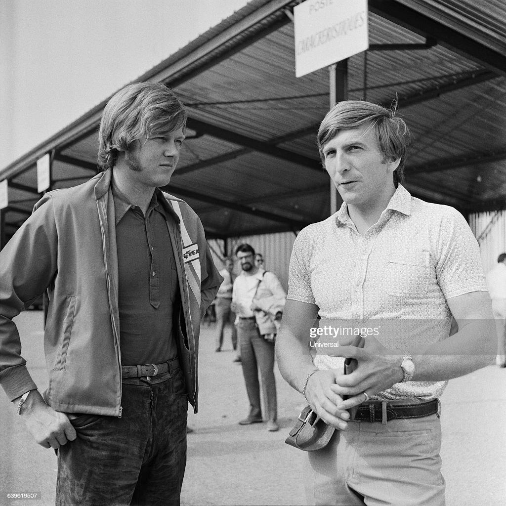 Racecar drivers Ronnie Peterson and Derek Bell