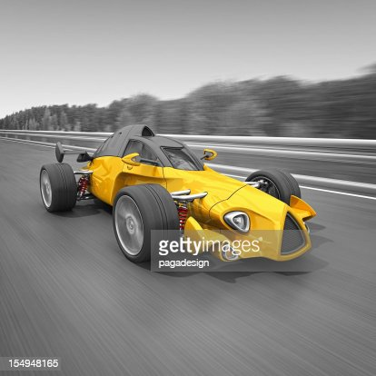 racecar on the road : Stockfoto
