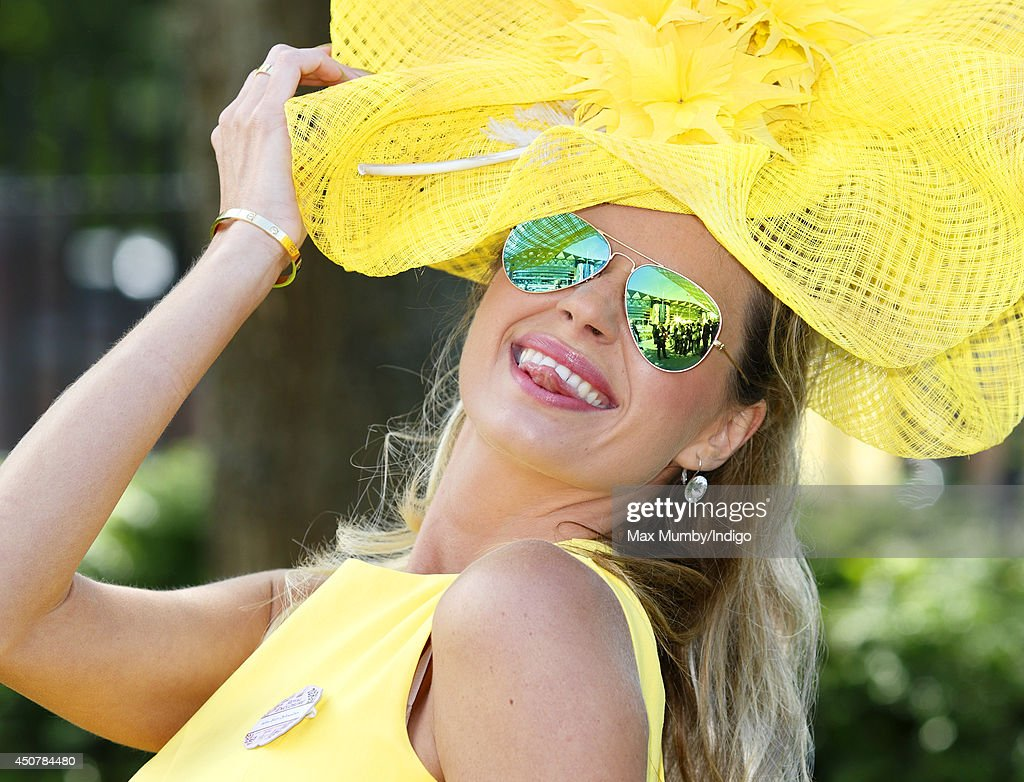 A racegoer attends Day 1 of Royal Ascot at Ascot Racecourse on June 17, 2014 in Ascot, England.