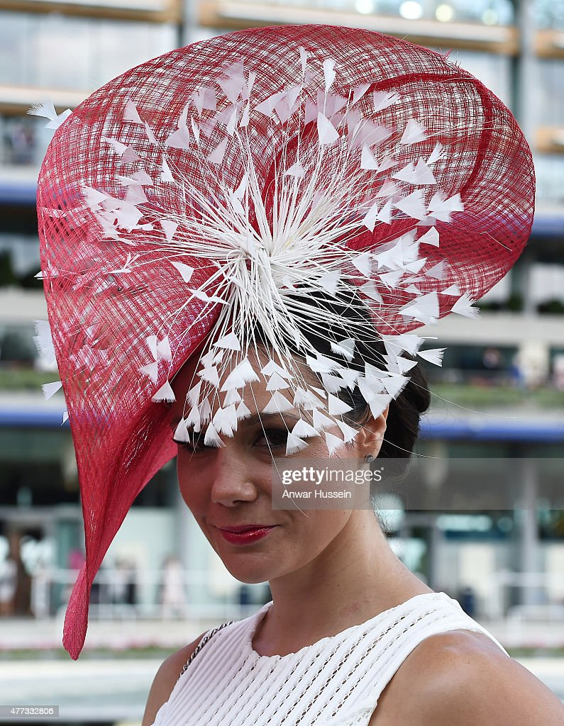 A racegoer attends day 1 of Royal Ascot on June 16, 2015 in Ascot, England.