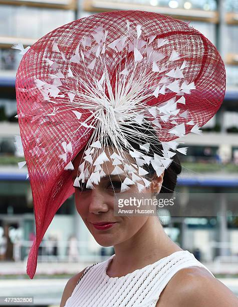 A racegoer attends day 1 of Royal Ascot on June 16 2015 in Ascot England