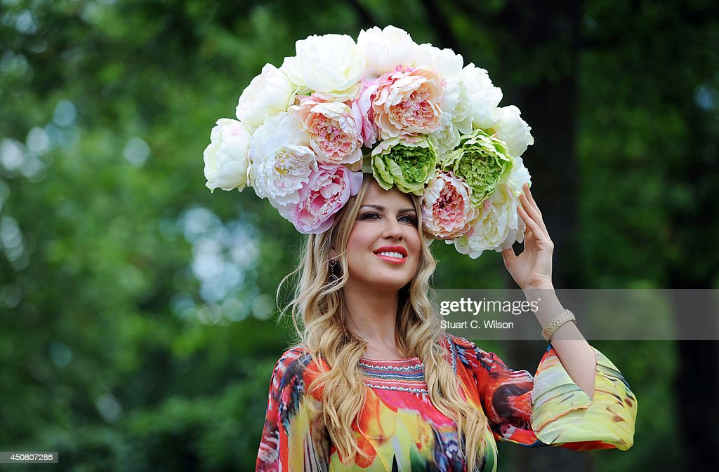 A Racegoer attends Day 2 of Royal Ascot at Ascot Racecourse on June 18, 2014 in Ascot, England.