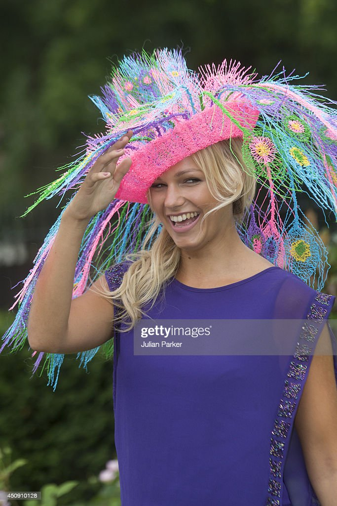 Racegoer attends Day 3 of Royal Ascot at Ascot Racecourse on June 19 2014 in Ascot England