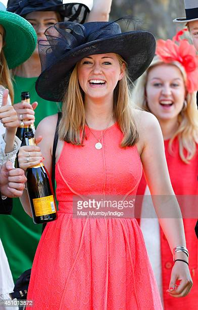A racegoer attends Day 5 of Royal Ascot at Ascot Racecourse on June 21 2014 in Ascot England
