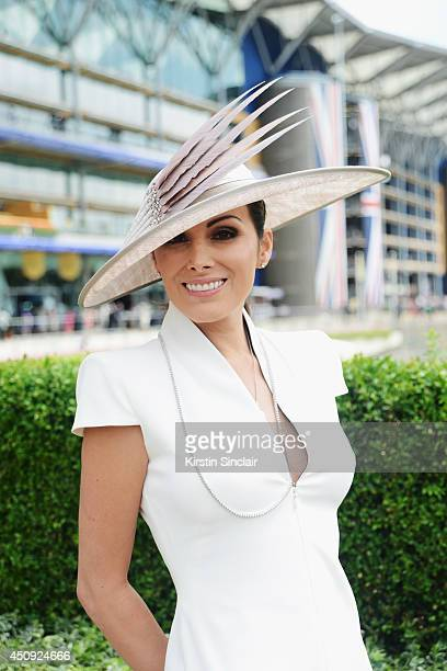 A racegoer attends day four of Royal Ascot 2014 at Ascot Racecourse on June 20 2014 in Ascot England