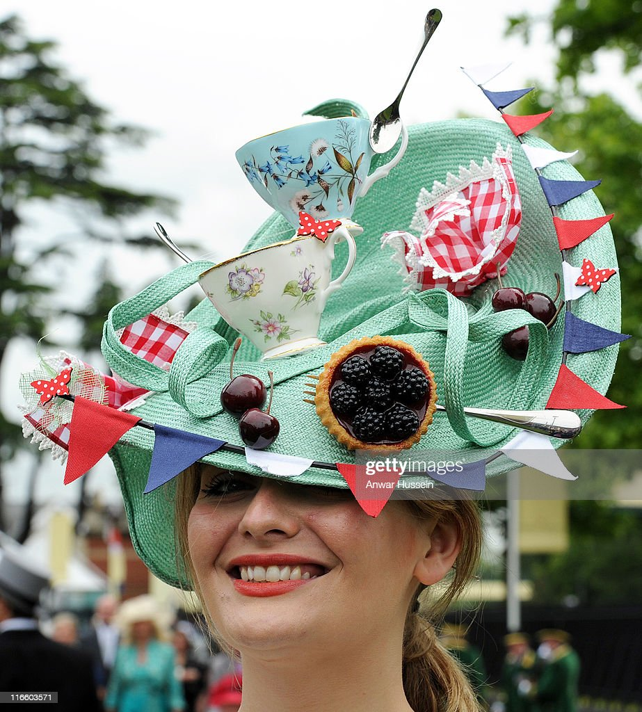 A racegoer attends Ladies Day at Royal Ascot on June 16 2011 in Ascot United Kingdom
