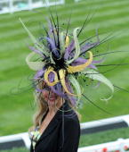 A racegoer attends Ladies Day of Royal Ascot at Ascot Racecourse on June 18 2009 in Ascot England