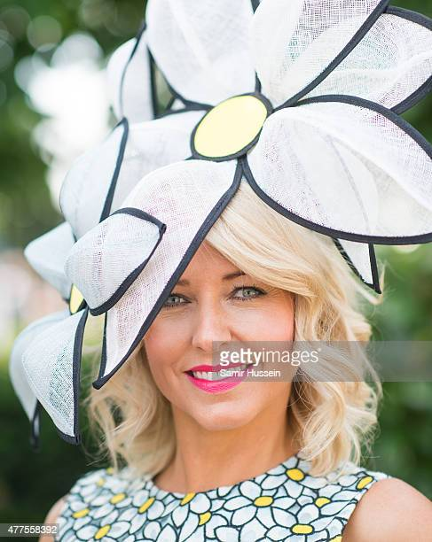 A racegoer attends Ladies Day on day 3 of Royal Ascot at Ascot Racecourse on June 18 2015 in Ascot England