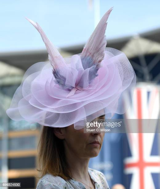 A racegoer attends Royal Ascot 2017 at Ascot Racecourse on June 21 2017 in Ascot England