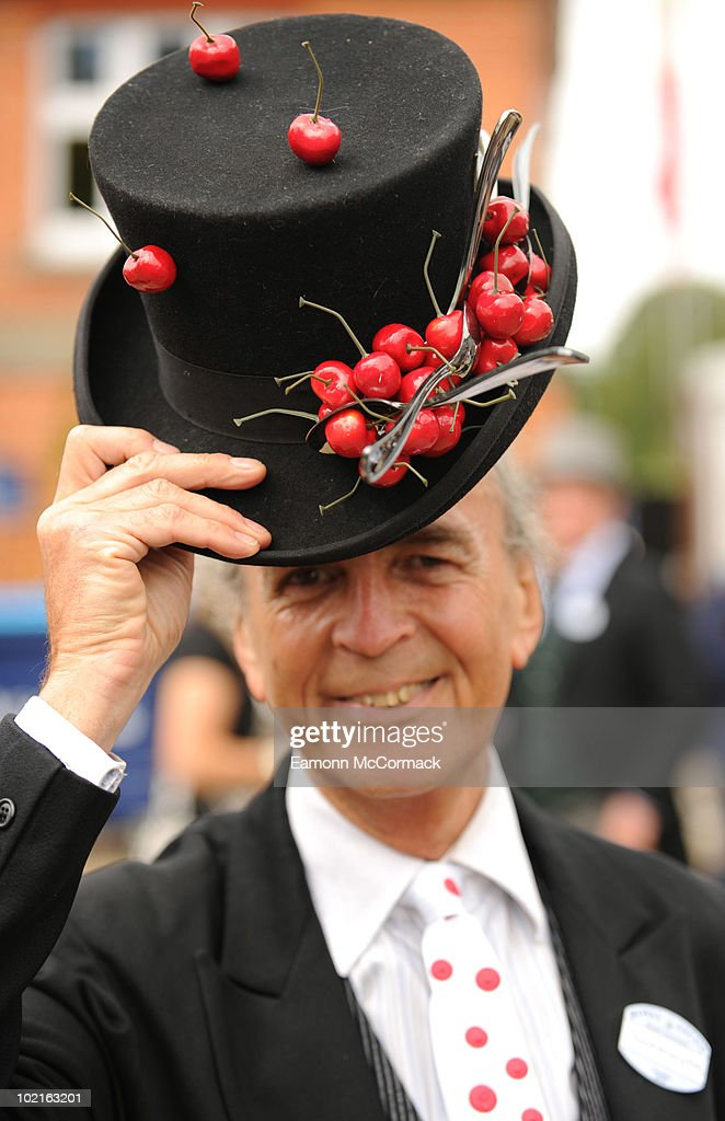 A Racegoer attends Royal Ascot at Ascot Racecourse on June 15, 2010 in Ascot, England.