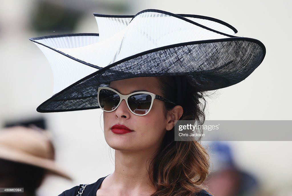Racegoer during day three of Royal Ascot at Ascot Racecourse on June 19 2014 in Ascot England