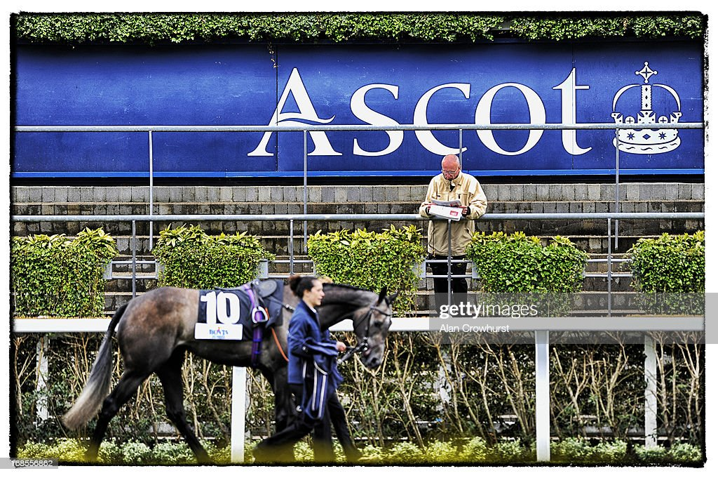 A racegoer in the parade ring at Ascot racecourse on May 11, 2013 in Ascot, England.