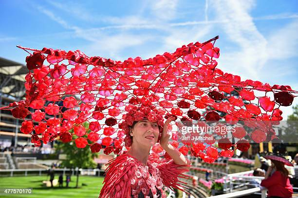 Racegoer Larisa Katz attends Ladies Day at Royal Ascot Racecourse on June 18 2015 in Ascot England The Royal Ascot horse race meeting runs from June...