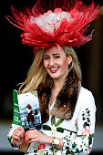A racegoer on Ladies Day at Cheltenham racecourse on March 16 2016 in Cheltenham England