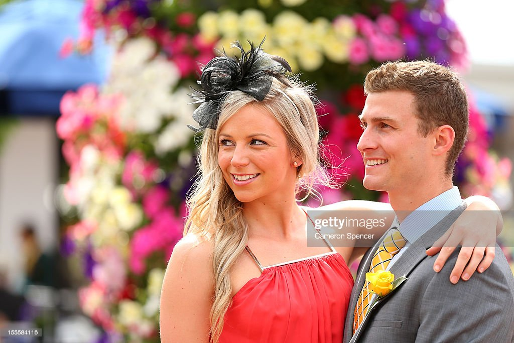 Racegoers arrive for Melbourne Cup Day at Flemington Racecourse on November 6, 2012 in Melbourne, Australia.