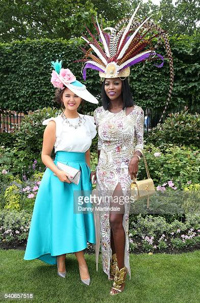Racegoers arrives for day 3 of Royal Ascot at Ascot Racecourse on June 16 2016 in Ascot England