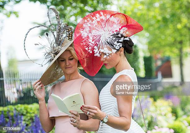 Racegoers attend day 1 of Royal Ascot at Ascot Racecourse on June 16 2015 in Ascot England