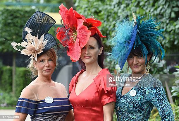 Racegoers attend day 2 of Royal Ascot on June 17 2015 in Ascot England