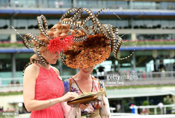 Racegoers attend Ladies Day at Royal Ascot 2017 at Ascot Racecourse on June 22 2017 in Ascot England