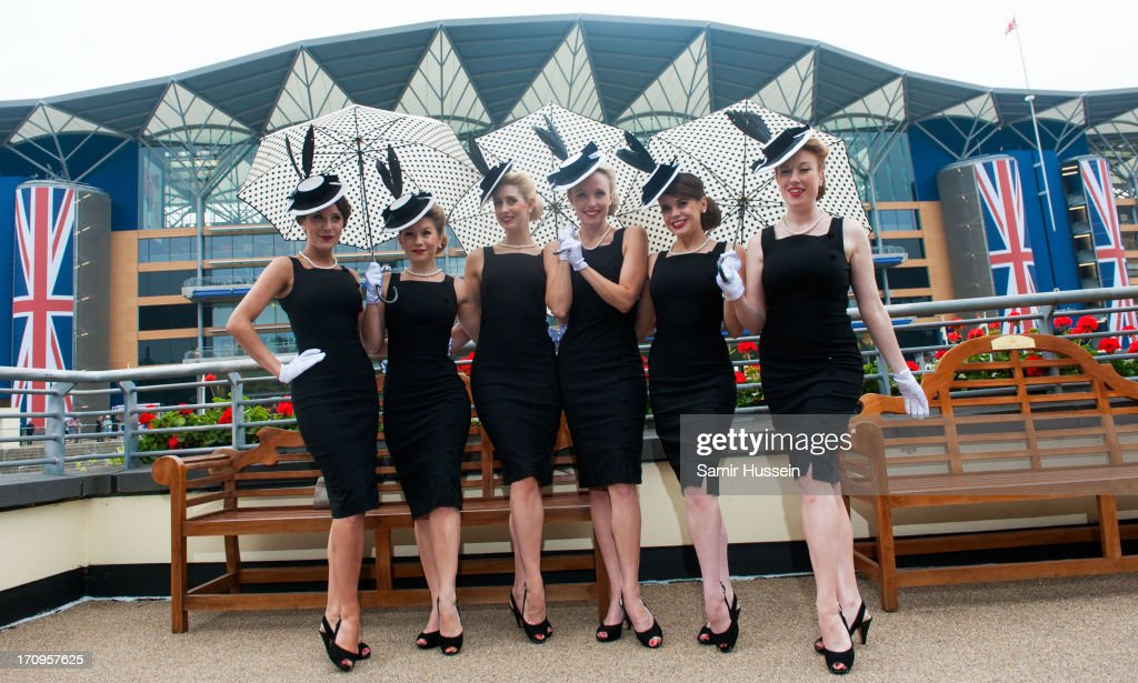 Racegoers attend Ladies Day on day 3 of Royal Ascot at Ascot Racecourse on June 20, 2013 in Ascot, England.