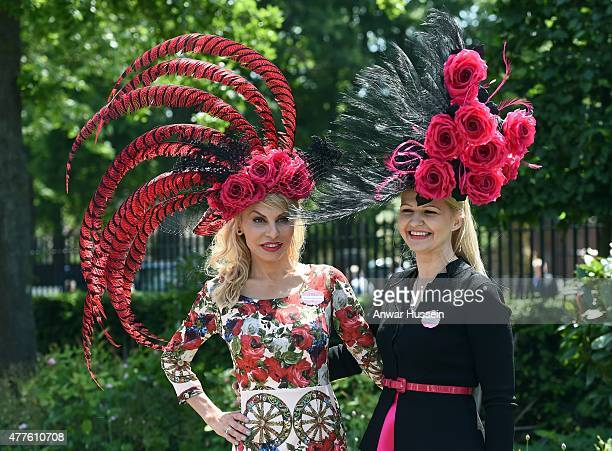 Racegoers attend Ladies Day on day 3 of Royal Ascot on June 18 2015 in Ascot England