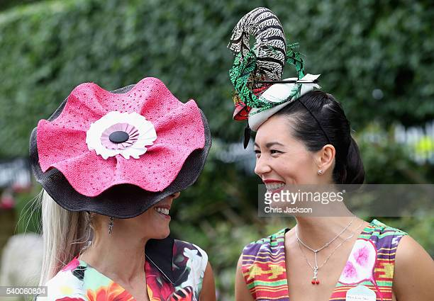 Racegoers attend Royal Ascot 2016 at Ascot Racecourse on June 14 2016 in Ascot England