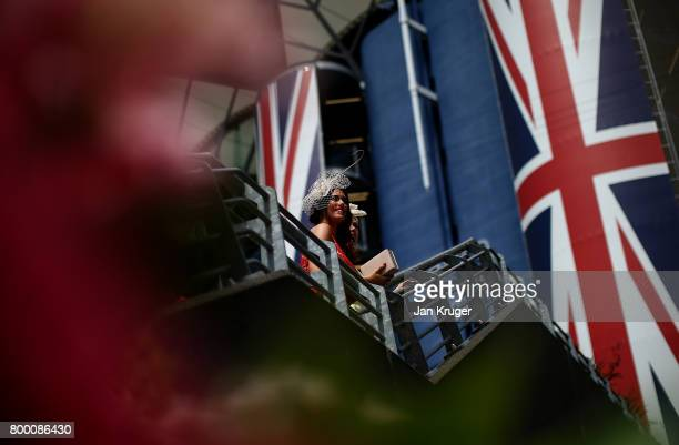 Racegoers look on on day 4 of Royal Ascot at Ascot Racecourse on June 23 2017 in Ascot England
